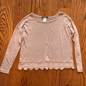Nordstrom long sleeve mauve top